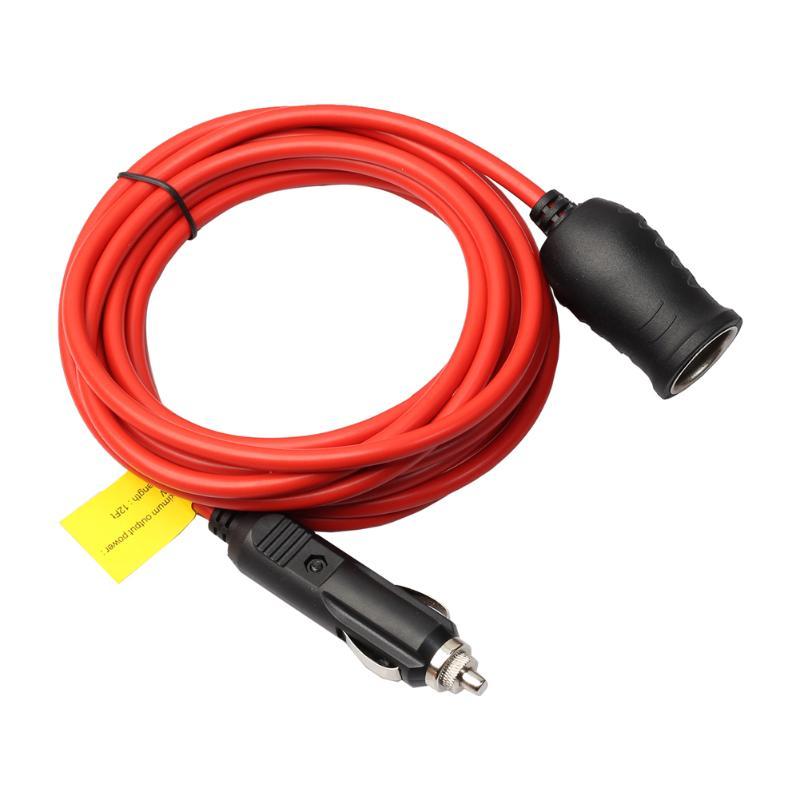 3.6 m/12ft 12V 24V Fornecimento de Extensão De Energia Mais Leve Do Cigarro Do Carro Plug Adapter Extender Cabo de Extensão Plug tomada 10A Fundida 12Ft