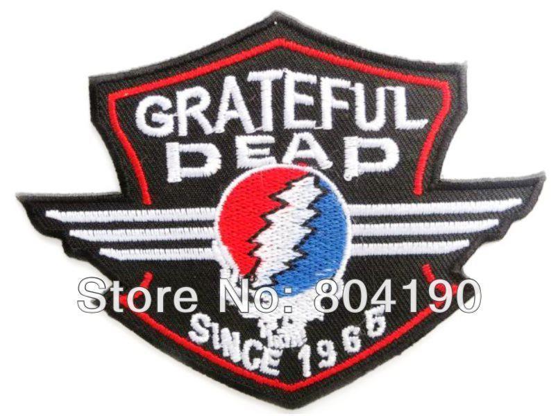 GRATEFUL DEAD Skull Shield Music Band Heavy Metal Iron On/Sew On Patch Tshirt TRANSFER MOTIF APPLIQUE Rock Punk Badge