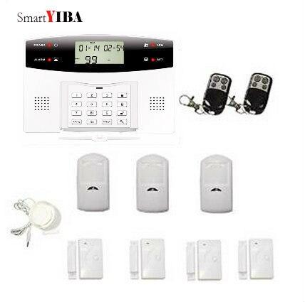 SmartYIBA sistema de alarma de seguridad GSM inalámbrico alerta SMS GPRS Alarma Residencial 2G SIM Auto Marcación de seguridad del hogar Detector de movimiento