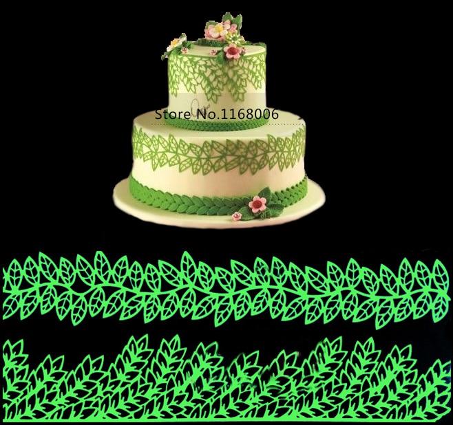 38.5cm*29cm Molde De Silicone Mould Large Leaf Cake Decorating Tools Moldes Silicone Cake Mold Silicone Lace Mats Cake Tools