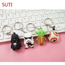 SUTI 1 pièces Star War porte-clés dark vador Storm Trooper figurine daction porte-clés Star War figurines Action jouet cadeau Llavero