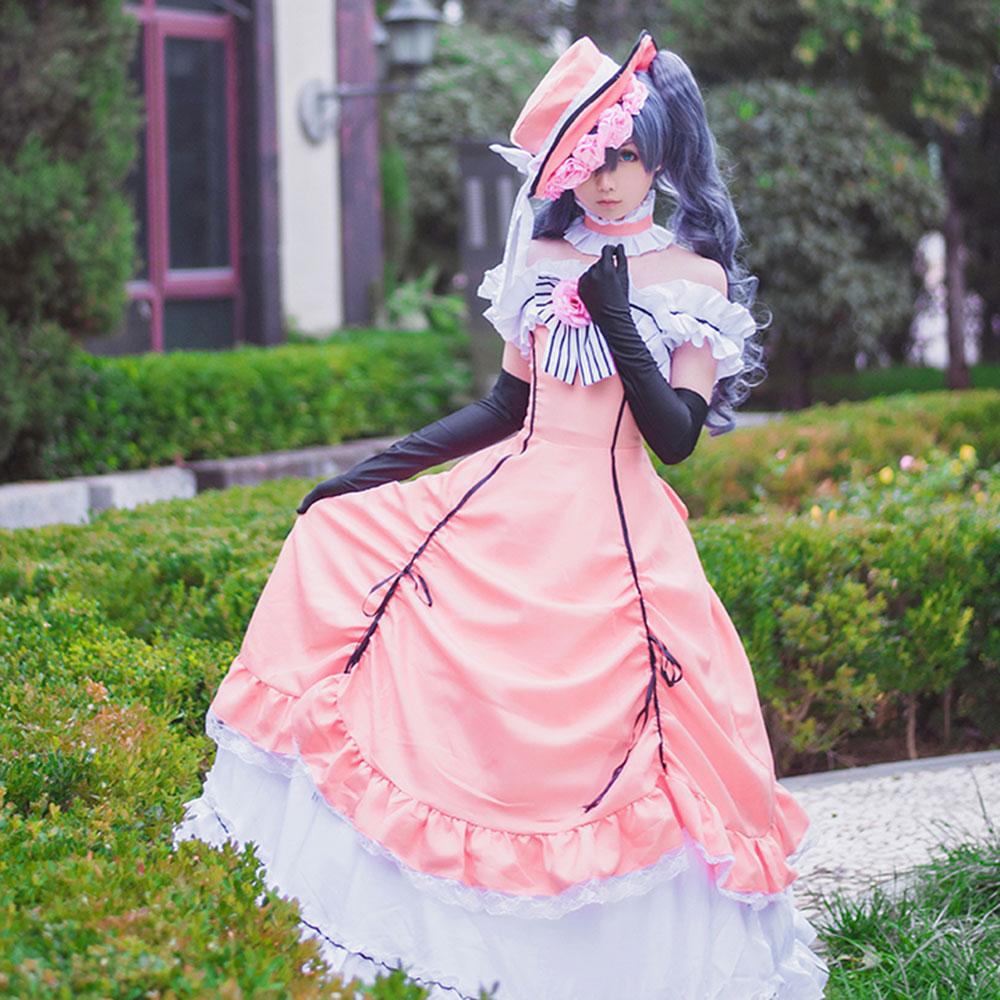RainbowCos0 del traje de Cosplay negro Butler Ciel Phantomhive vestido peluca para uniforme superior sketch juego Anime Halloween