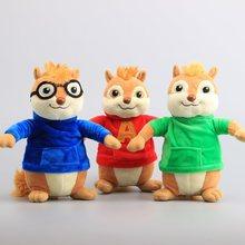 "Movie Toys Alvin and the Chipmunks Plush Dolls Cute Chipmunks Stuffed Toys Kids Gift 9"" 22 CM"