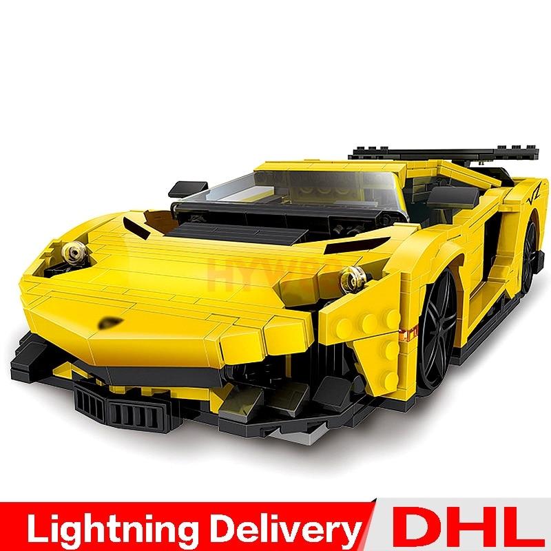 XingBao bloque 03008 creativo MOC Serie Técnica el juego de coches de carreras de Flash amarillo bloques de construcción juguetes de lepining clon LP