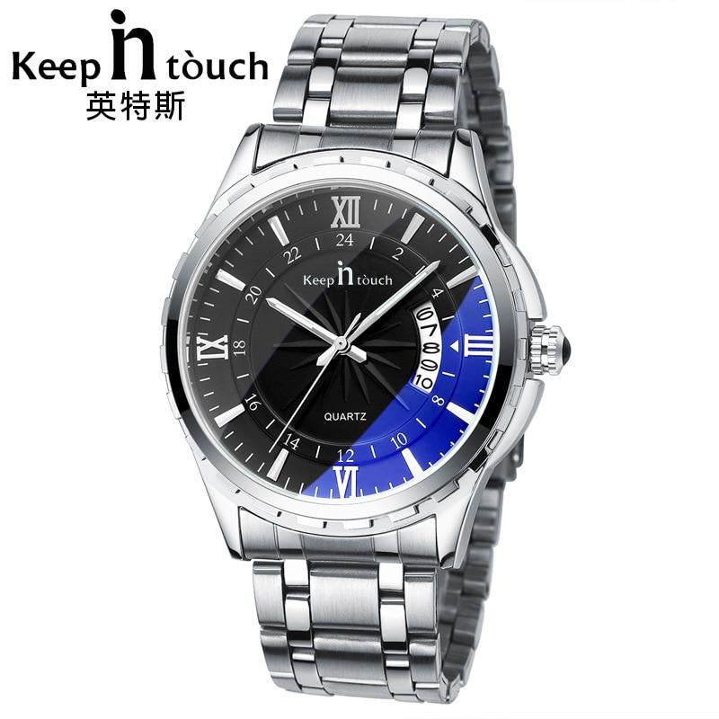 KEEP IN TOUCH New Luxury brand Genuine watches men waterproof fashion watch steel men's quartz watch men clock Dropshipping!!!