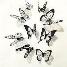 36 Pcs 3D Schwarz Weiß Schmetterling Aufkleber Kunst Wand Aufkleber Wandbild Dekoration Schwarz Weiß Schmetterling Aufkleber Kunst Wand Aufkleber wandbild