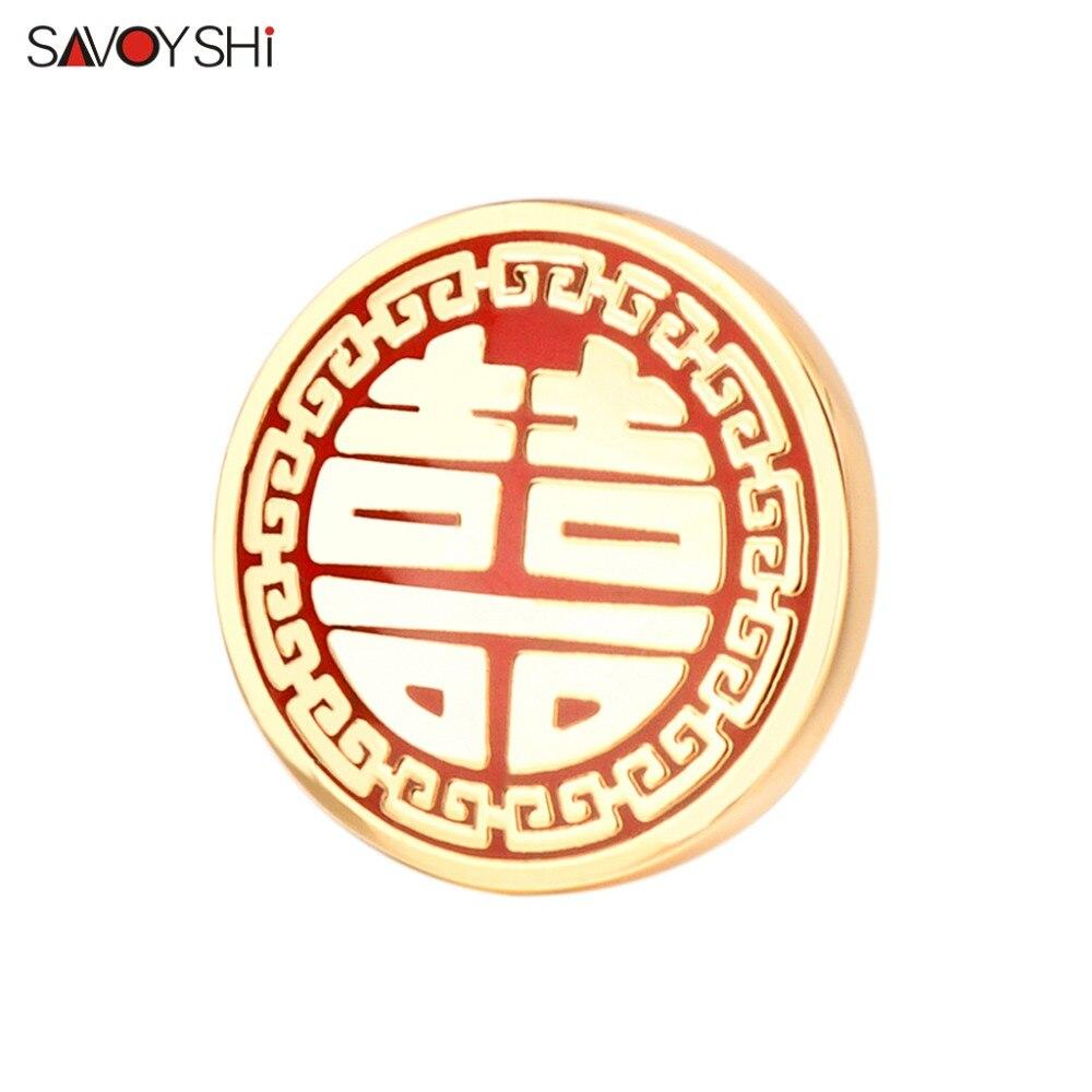 SAVOYSHI, китайские Броши с двойной любовью для мужчин, значки, костюм, брошь, булавки, воротник, украшенный, аксессуары для рубашки, корсаж, брен...