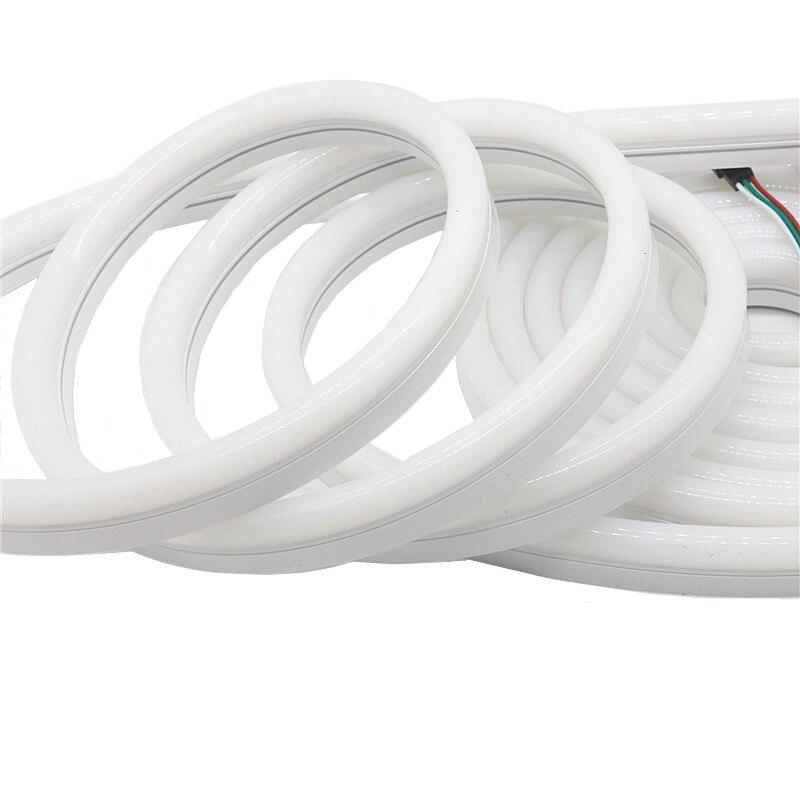 12 V WS2811 RGB Pixel Streifen Licht LED Neon Seil Flexible Wasserdichte IP67 PVC Rohr Neon Band Lichter WS2812 Smart streifen Beleuchtung