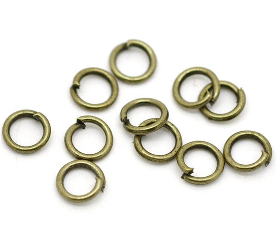 """Doreenbeads de bronce antiguo anillos abiertos de 5mm (1/4 """"), vendidos por lote de 1000 (bbb16978), yiwu"""