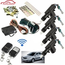Kit de verrouillage Central de porte sans clé   Auto 2/4 Kit universel de télécommande de voiture, système dentrée sans clé