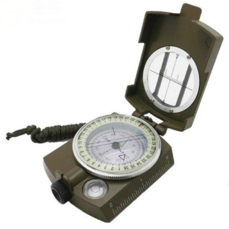 Outdoor Multi-function Compass Metal with Luminous Waterproof Survival Military Compass Hiking Camping Army Pocket Equipment