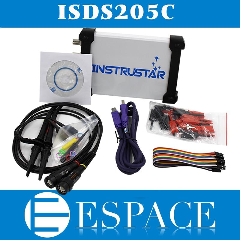ISDS205C versión de actualización MDSO-LA PC USB analógico Virtual osciloscopio 16 analizador lógico de canal ancho de banda de 20M de análisis de circuitos