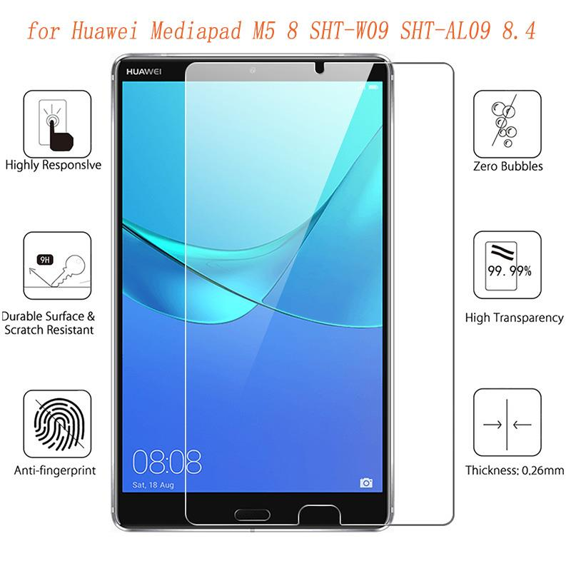 Vidrio templado para Huawei Mediapad M5, película protectora de pantalla de cristal...
