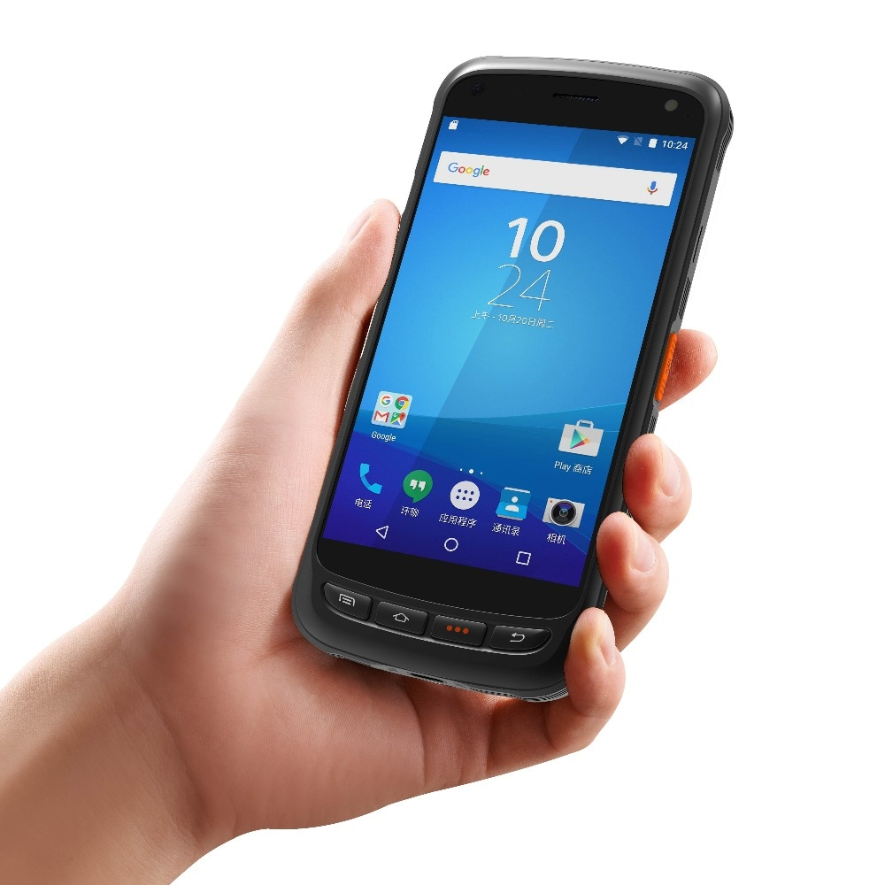5,2 pulgadas 1D 2D láser código de barras Android 6,0 escáner IP67 teléfono impermeable PDA Terminal de mano colector de datos logística de inventario