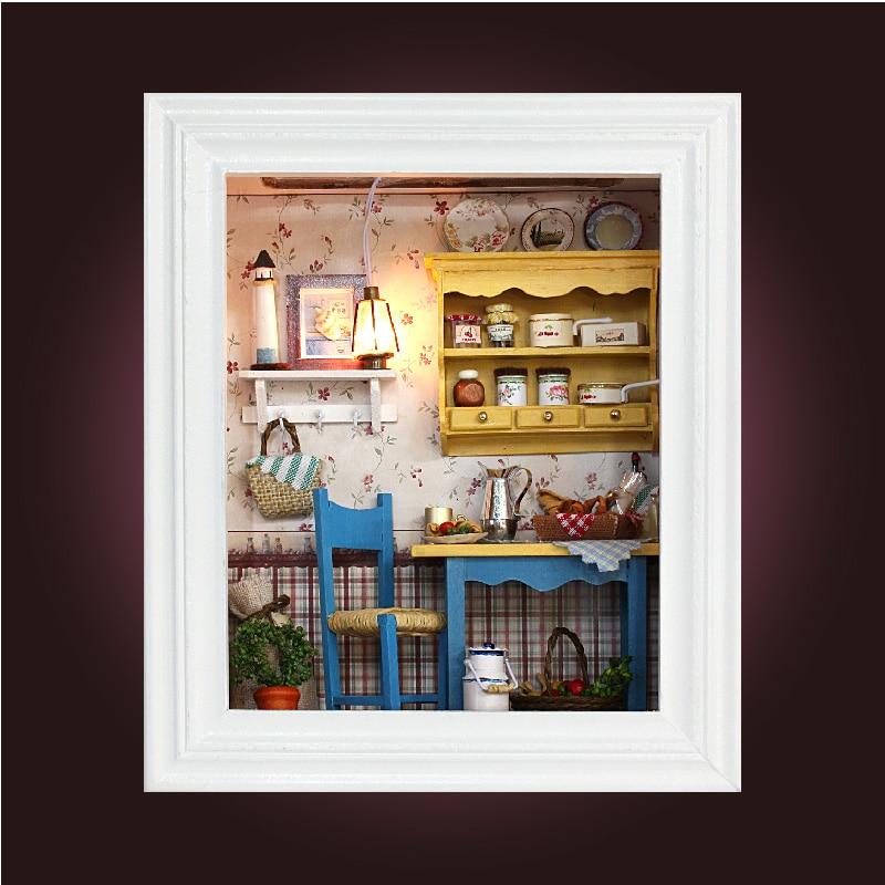 Набор для сборки кукольного дома, набор для сборки кукольного дома, коробка для комнаты, домашний кукольный домик ручной работы, игрушка для девочки, подарок для девушки