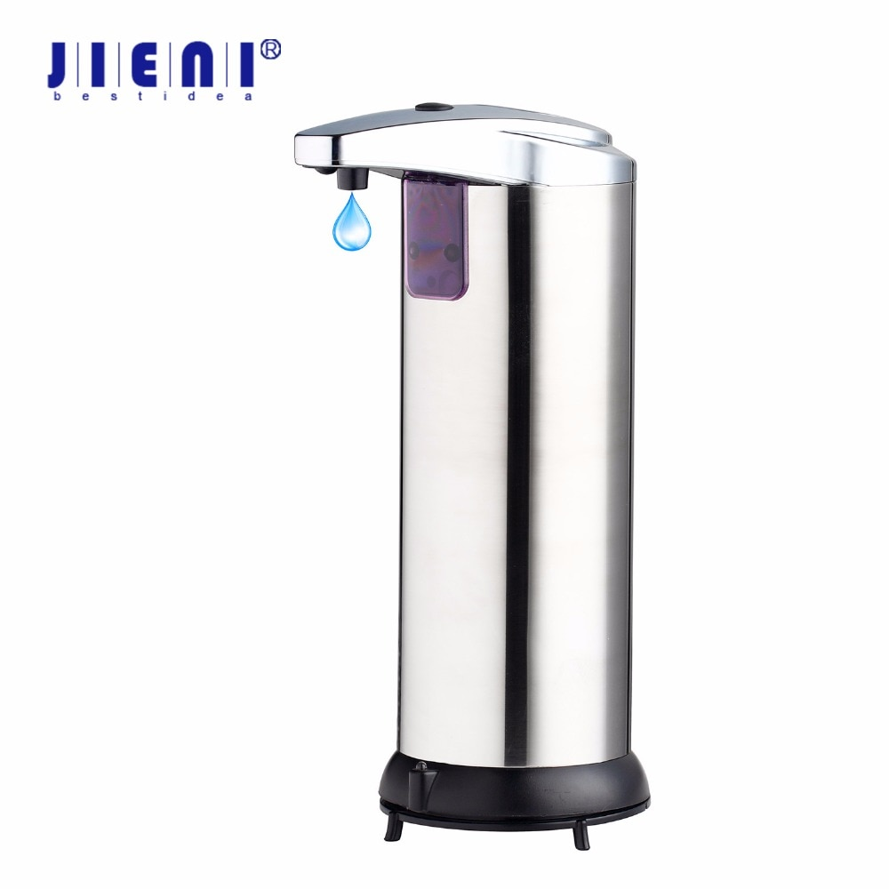 Dispensador automático de jabón JIENI de tacto libre, dispensador de desinfectante sin contacto con Sensor, dispensador de jabón para baño de cocina