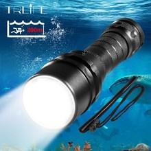 Luz de buceo profesional 200 metros L2 impermeable IPX8 linterna LED subacuática linterna de Camping de buceo por 18650