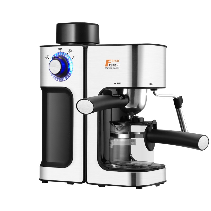 0.24L 5 Cups Electric Coffee Maker / Milk Foam Maker Office Espresso Italian Style Automatic Insulation Electric Coffee Machine