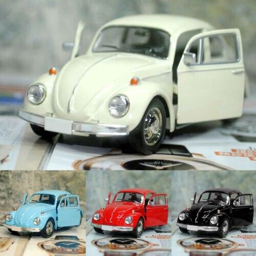 Винтажная модель автомобиля для литья под давлением с изображением жука, детские подарочные украшения