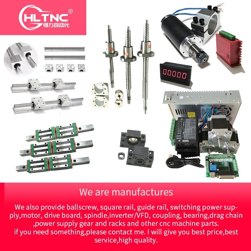 Personnalisé CNC Kit mgn 12 sbr10 sbr12 sbr16 sbr20 hgr15 hgh20 rail de guidage linéaire de vis à billes T12 sfu1605 sfu2005