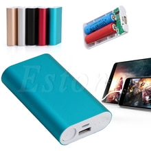 1 PC 2x18650 Batterie Ladegerät 5V USB 5200mAh Power Bank Fall Kit DIY Box Für Telefon GPS