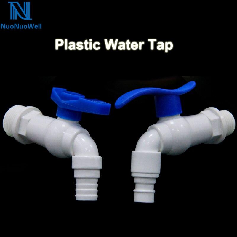 NuoNuoWell PVC G 1/2 3/4 polegada Rosca Macho Torneira Da Água Da Torneira Conectar 16mm Tubo de Plástico Macio Para Mangueira de Jardim válvula de Irrigação De plantas