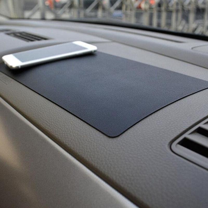 27x15 cm painel do carro pegajoso anti-deslizamento pvc esteira antiderrapante almofada pegajosa para telefone óculos de sol titular estilo do carro acessórios interiores