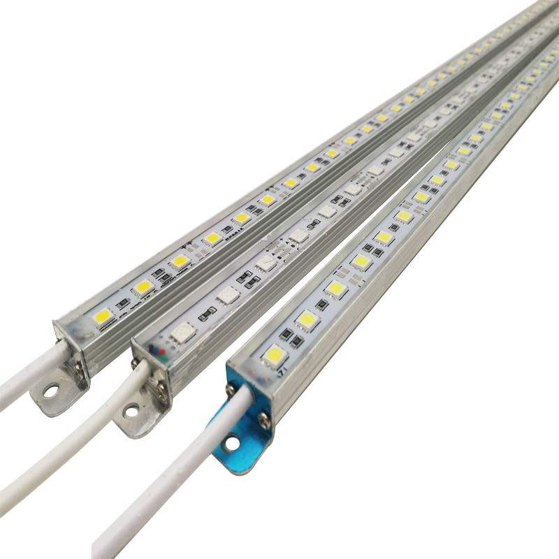 LED בר אור עמיד למים IP68 DC 12 V 50 cm SMD 5050 קשיח LED רצועת אור לשחייה בריכת מטבח תחת ארון