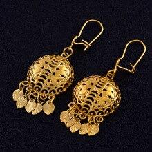 Anniyo afrique boucles doreilles pour femmes couleur or coeur boucles doreilles éthiopien mode bijoux, indonésie, Nigeria, Congo, arabe #121416