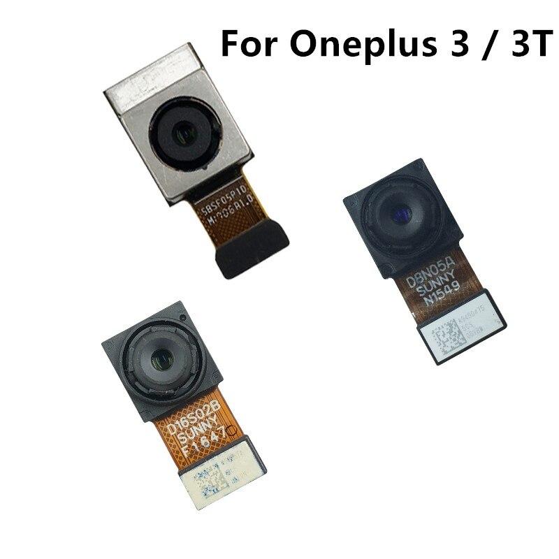 Parte traseira dianteira do cabo flexível da câmera traseira para oneplus 3/um mais 3 t câmera traseira traseira cabo flexível reparação peças de reposição