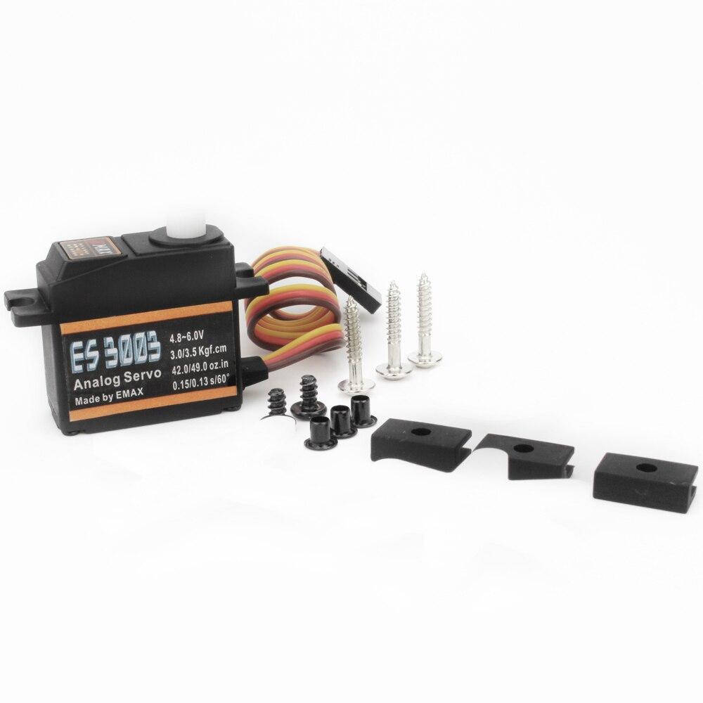 Gift Official Emax Servo ES3003 17g 3.5kg 0.13sec 23T Plastic Gear Analog For RC Plane ES3103 Upgrade enlarge