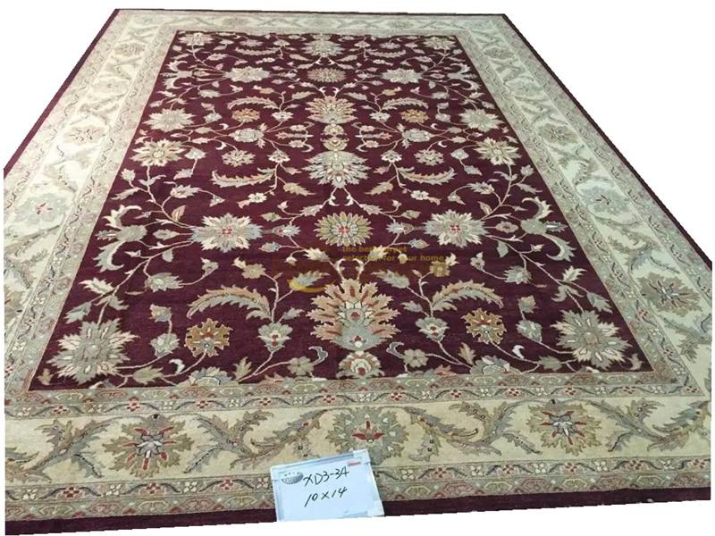 Alfombras turcas originales de exportación única hechas a mano, Ozarks OUSHAK, alfombra de pura lana XD3-34, 10X14gc158zieyg14
