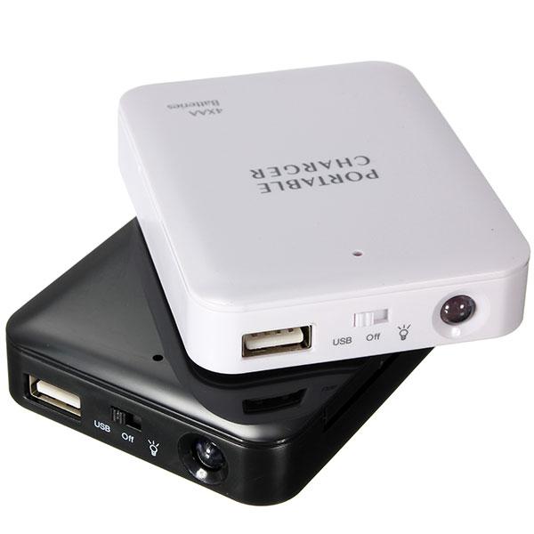 Универсальный портативный безопасный светодиодный фонарик 4 x AA USB Power Bank зарядное устройство чехол Коробка зарядное устройство DIY Набор для смартфона