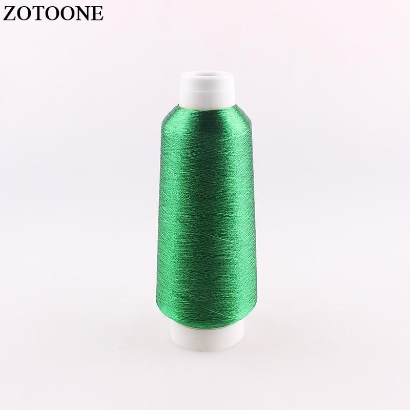 ZOTOONE 3500M/rollo de hilos verdes DMC para tejer, manualidad de punto de cruz, máquina de bordado, hilo para coser, organizador, hilo dental D