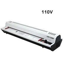 110V 300W Photo Document papier A3 A4 stratification Film Machine froid/chaud plastifieuse bouton température de fonctionnement 400 mm/min LK4-320D