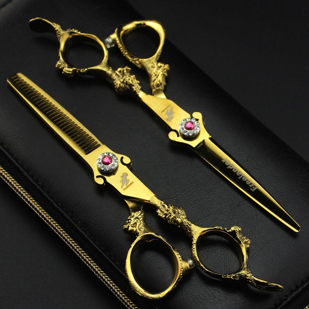Профессиональные Парикмахерские ножницы Freelander, 6-дюймовые парикмахерские ножницы, филировочные ножницы, парикмахерские ножницы для стрижк...