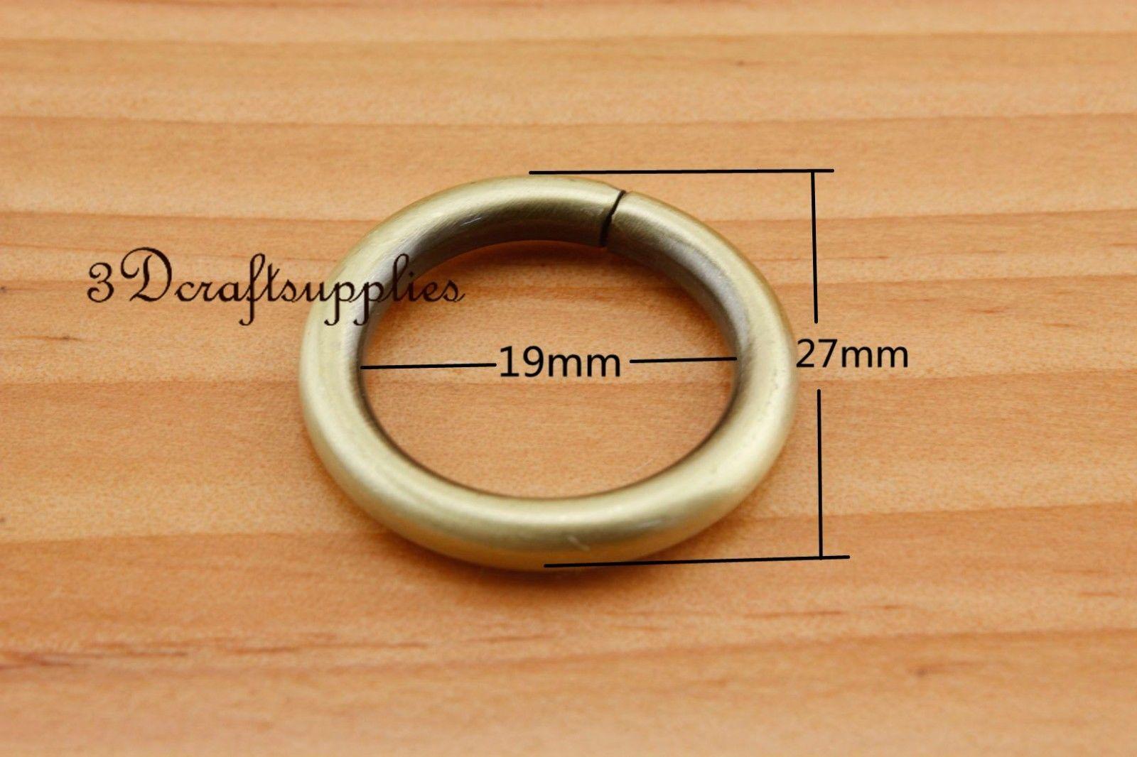 Conector do anel de metal rings-ring bolsa anti bronze 19mm 3/4 polegada 12 pcs U164