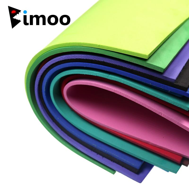 Bimoo, 10 Uds., espuma EVA de color de 3mm, papel atado de moscas, Material de papel de espuma para hierba, tolva, Popper de espuma, insectos de carpa, etc.