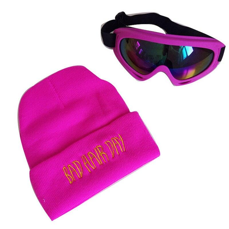 Nueva moda Otoño Invierno cálido sombreros tejidos a croché para bebé gorro de bebé para niños gorro de punto con gafas niños niñas sombrero Casquette