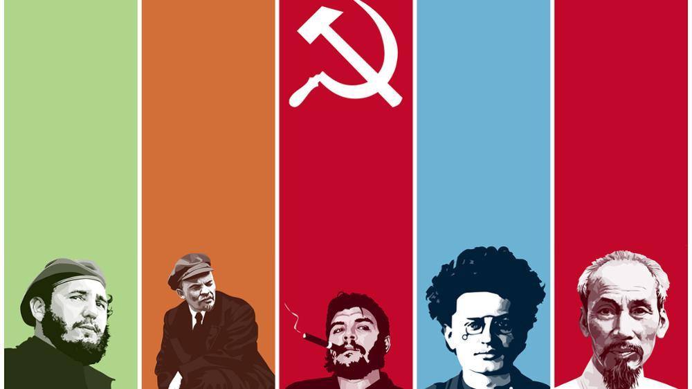 Fidel Che Trotsky Comunistas Lenin Cartaz Home da Decoração da Lona Pintura Impressa