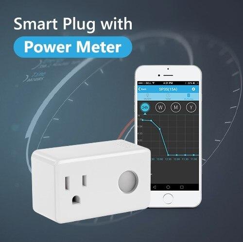BroadLink SP3 Monitor de energía Wifi enchufe inteligente enchufe 16A control de voz por Alexa & Google Home solución de hogar inteligente control remoto