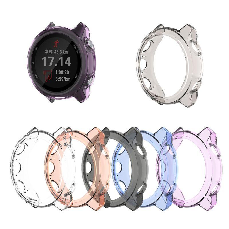 Funda protectora de TPU transparente antiarañazos para accesorios de reloj inteligente Garmin Forerunner 245 245M