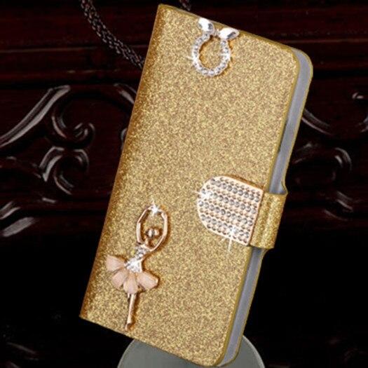 Luxo caso capa de couro carteira do plutônio pele para samsung galaxy young 2 g130 g130h caso capa com titular do cartão de crédito/slot