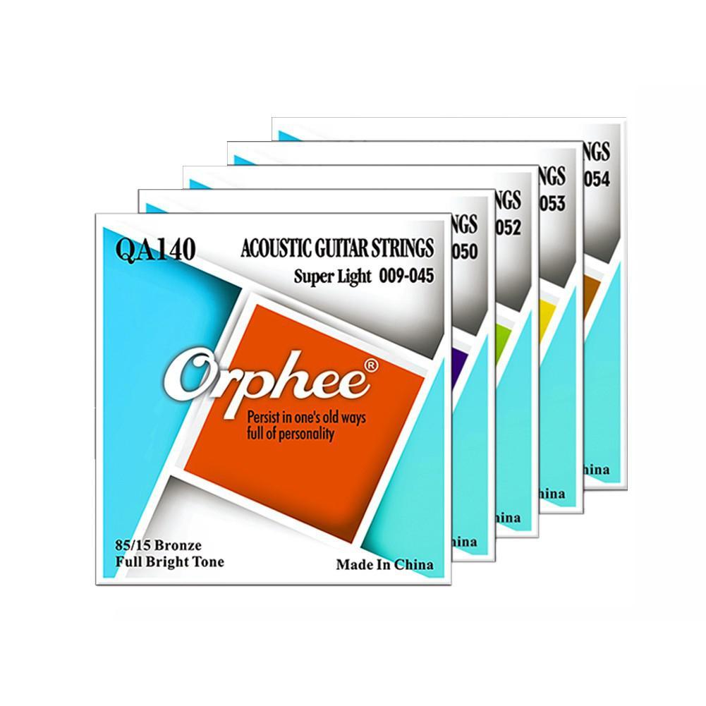 Orphee QA Serie 6Pcs Akustische Folk-gitarre Saiten Sechseckigen Stahl Core 80/20 Bronze Draht Super Light Tension Gitarre Zubehör