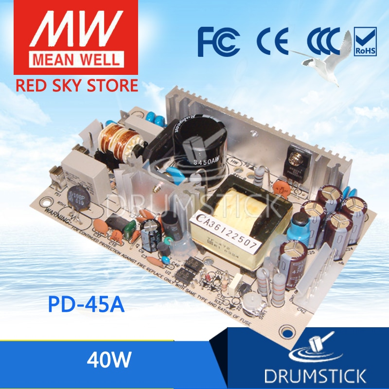 advantages mean well cen 75 15 15v 5a meanwell cen 75 15v 75w single output led power supply Steady MEAN WELL PD-45A meanwell PD-45 40W Dual Output Switching Power Supply