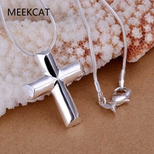 Petit pendentif croix en argent collier femmes fille enfant, mini pendentif à breloque-plaqué argent bijoux remplis crucifix ornement chrétien