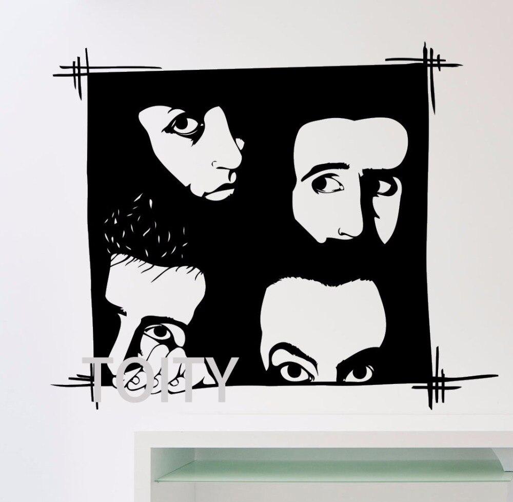 Pegatina de vinilo para mural con sistema de canciones bajas para miembros SOAD Music