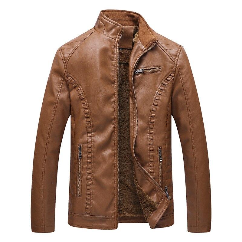 Nueva chaqueta de terciopelo caliente de moda calle europea y americana chaqueta de cuero para motocicleta tamaño grande 5XL 6XL