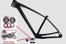 "2018  carbon fiber mtb frame 29er mountain bikes frame 29"" hardtail carbon bicycle 29 inch  frames compatible thru axle or QR"