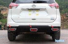 Lapetus Chrome Rear Fog Lights Foglight Lamp Frame Cover Trim 3 Pcs Fit For Nissan X-Trail X Trail T32 Rogue 2014 2015 2016